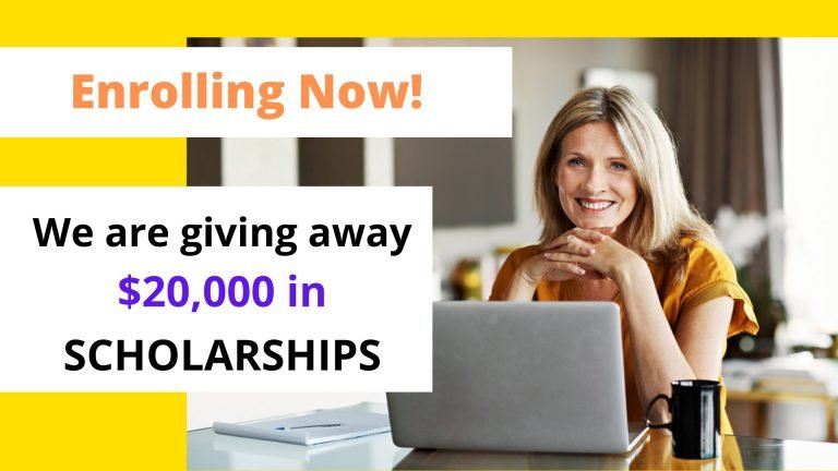 enrolling now - we are giving away $20000 in scholarships